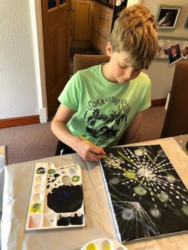 Alex painting!