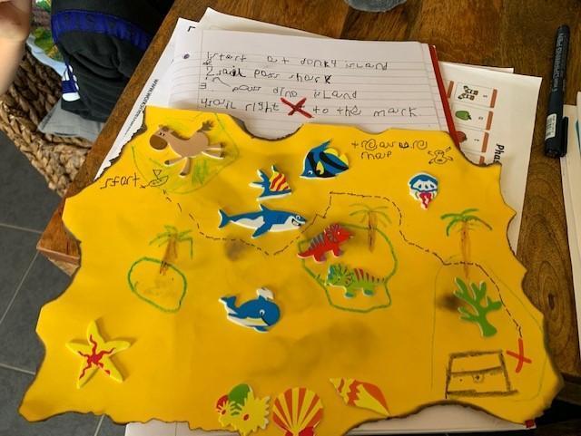 Harrison's treasure map instructions - Reception