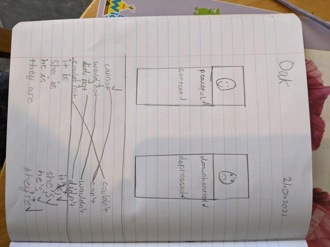 Lyssy has been enjoying her Literacy lesson on contractions. Great job!