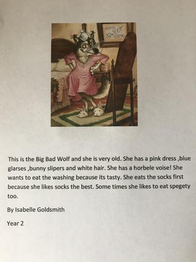Isabelle's writing - Year 2