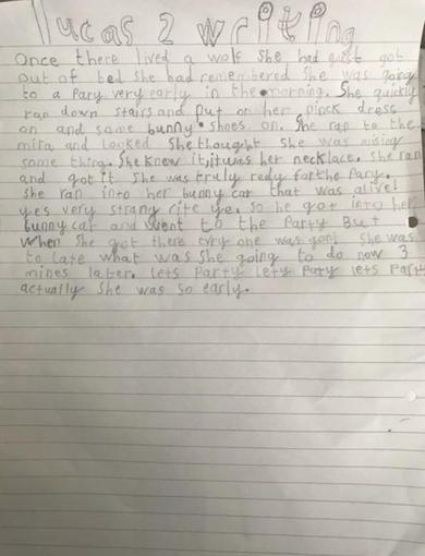 Lucas' writing - Year 2