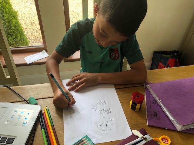 Fletcher's learning to draw