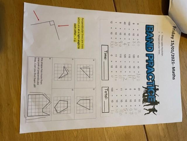 Jacob has been working hard on his Maths this week. Well done Jacob!