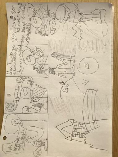 Orson's fantastic Viking comic strip!