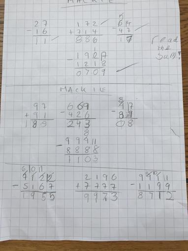 Fleur's maths