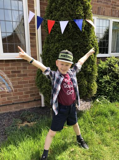 Aiden's VE Day bunting