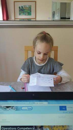Niamh's letter writing