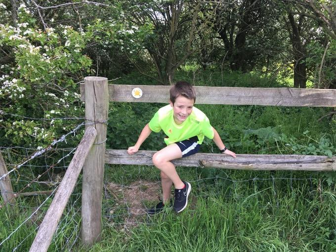 Harry on his 8k run