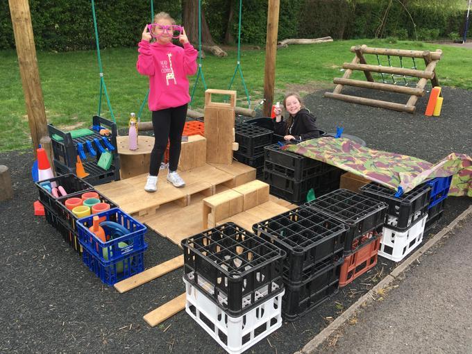 Amy and Daisy have built a house!
