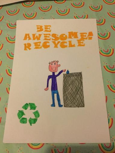 Rhys has also done a fantastic recycling poster!