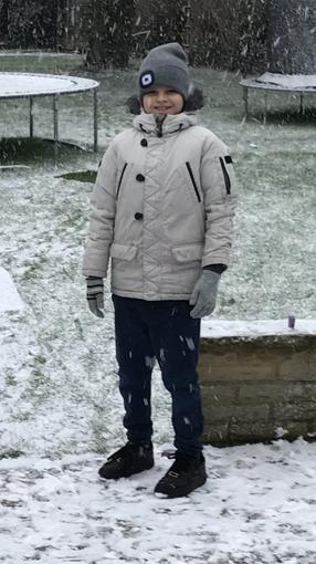 Max enjoying the snow!
