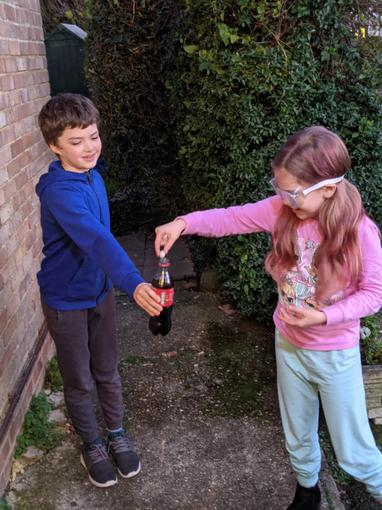 ...as well as participating in a dangerous potions experiment!