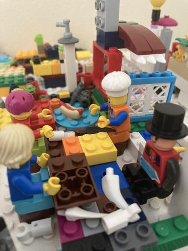 Niamh has chosen to create her Burns Night meal out of Lego- fantastic!