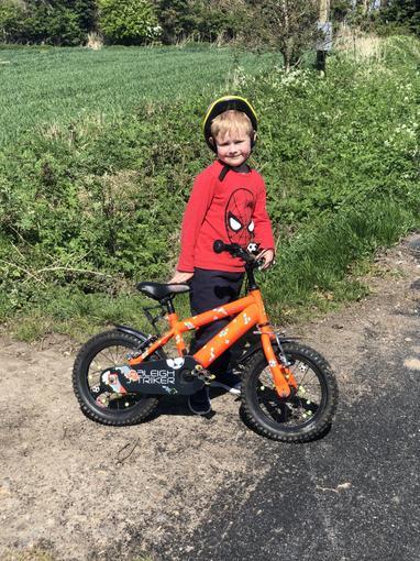 Ollie on his bike