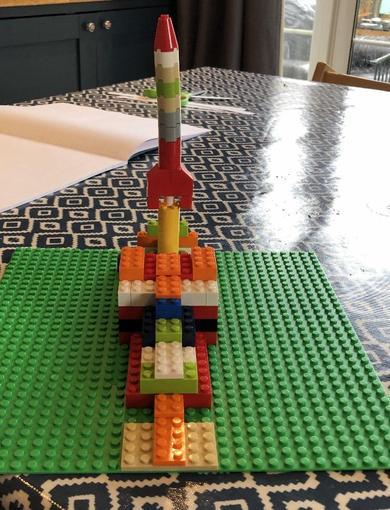 Oliver's Lego rocket