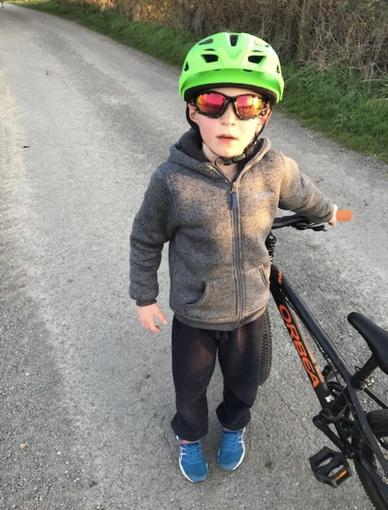 Aiden on his bike