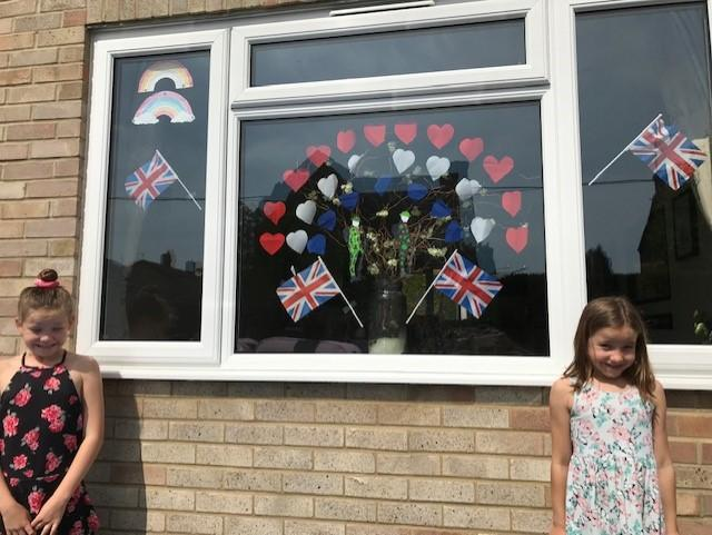 Fearne and Jess's VE day display
