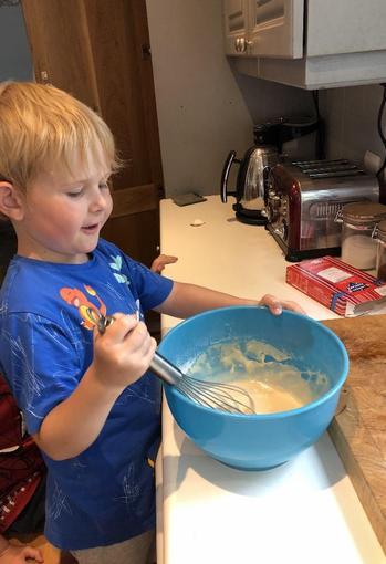 Ollie made pancakes!