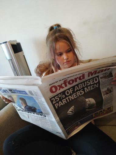 Holly has also been reading the paper to improve her understanding of newspaper articles.