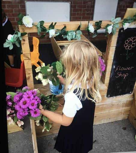 Setting up a flower shop in the Nursery