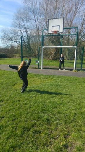 Holly's football practice for PE