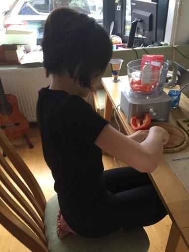 Jule making pici pasta!