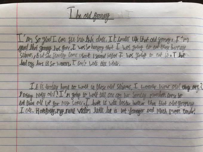 Cameron's writing - Year 4
