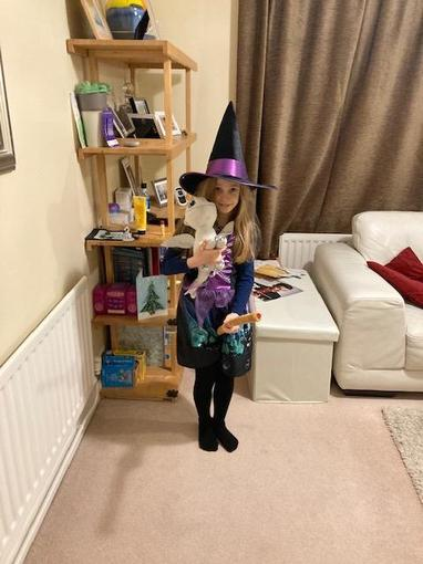 Niamh has fully embraced our 'Hocus Pocus' topic this term...