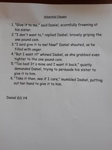 Daniel's Adverbial clauses conversation