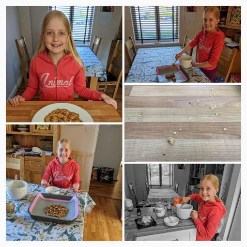 Zoe's peanut butter/choc chip mega cookie!