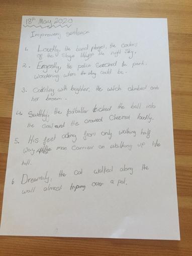 Olivia's sentence work