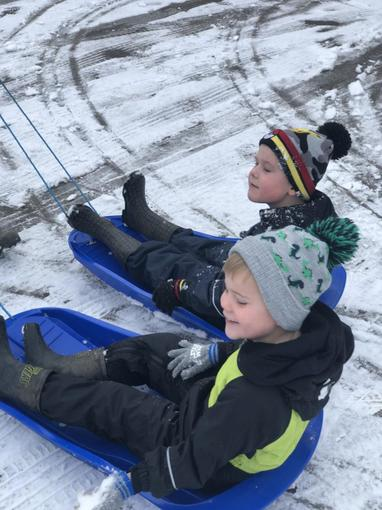 Ollie and Bradley had a great time playing in the snow this weekend!