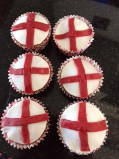 End result of Joss's cakes, Yum!!!