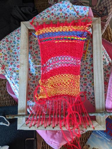 Some of Jemma's wonderful Viking weaving!