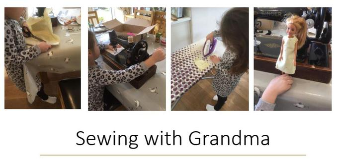 She has also been enjoying doing a project of her own with her lovely Grandma!