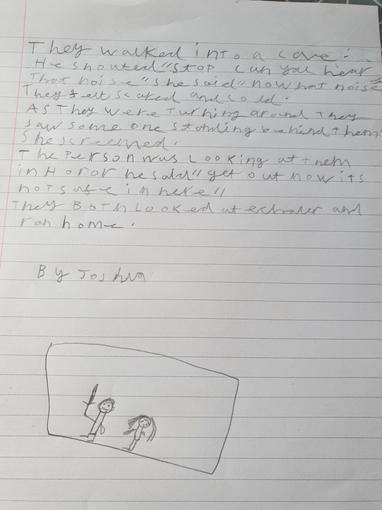 Joshua's Writing - Year 3