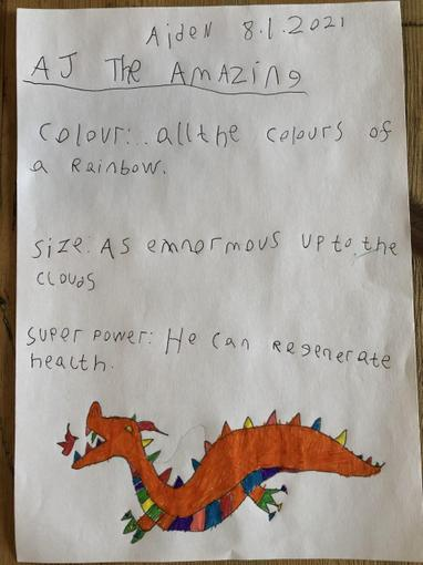 ...and Aiden's 'AJ the Amazing'!