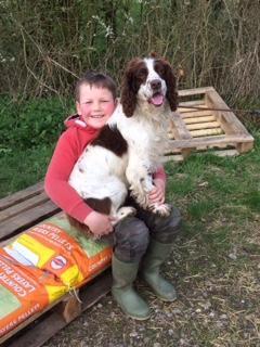 Joss with his dog Baler