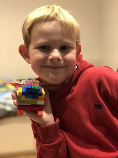 Oliver's excellent Lego dragon!