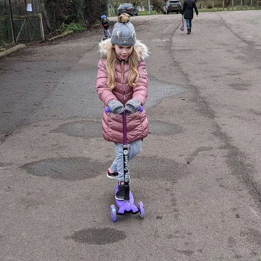 She has taken a well-earned break this afternoon to scoot around the village.