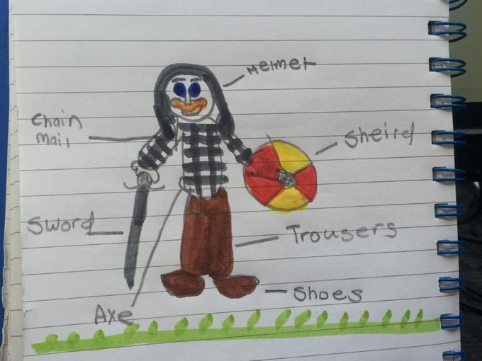 Zach's Viking warrior diagram!