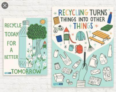 An example of some recycling posters...
