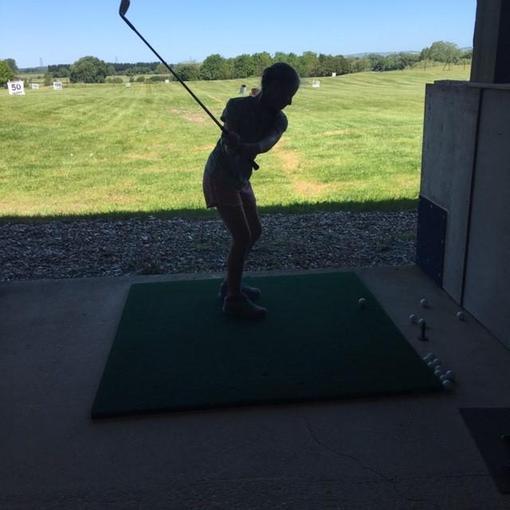 Edie has been enjoying her golf during lockdown!