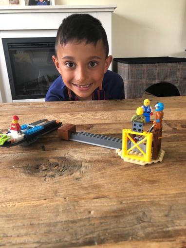 Fletcher's Lego speedboat