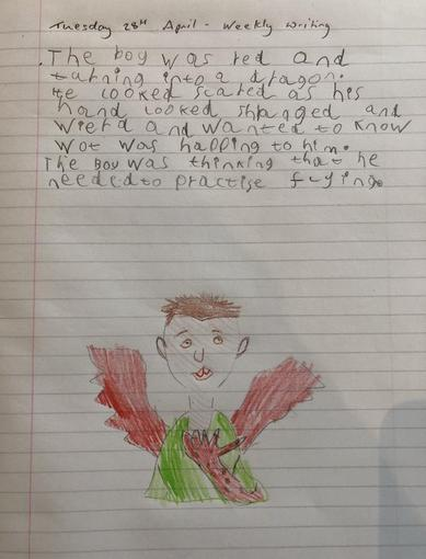 Oliver's writing - Year 2