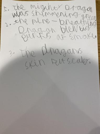 ...and completed some wonderful dragon sentences.