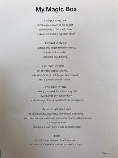 Elena's writing