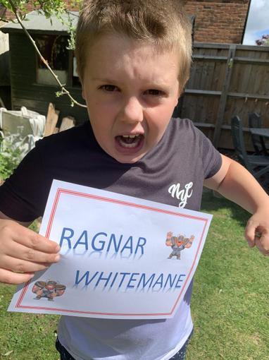 Viking warrior Ragnar Whitemane