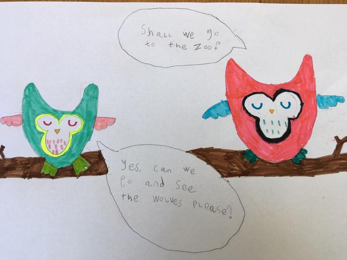 April's Writing - Year 1
