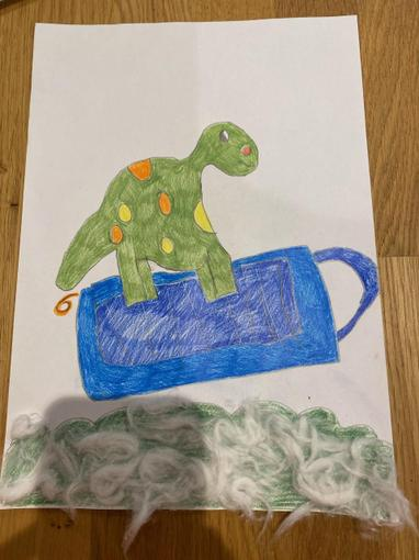 Here's Molly's wonderful dragon illustration! Wow!
